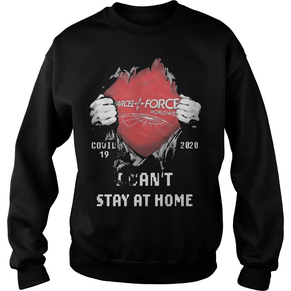Inside Me Parcelforce Worldwide Covid 19 2020 I Can't Stay At Home Sweater