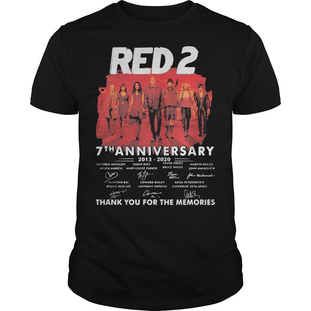 Red 2 7th Anniversary 2013 2020 Thank For The Memories Signatures Shirt