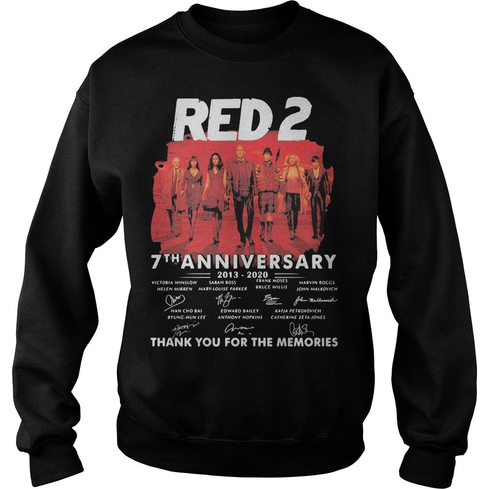 Red 2 7th Anniversary 2013 2020 Thank For The Memories Signatures Sweater