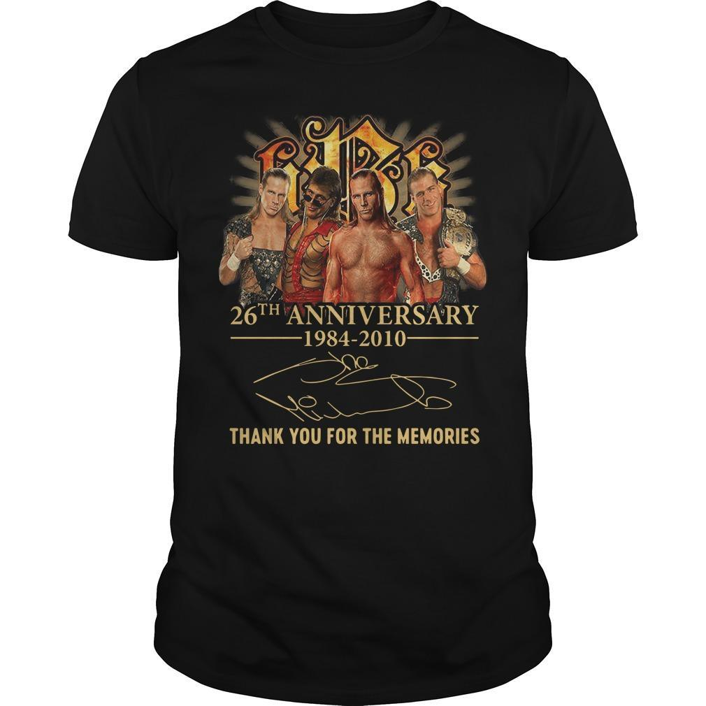 Shawn Michaels 26th Anniversary 1984 2010 Thank You For The Memories Shirt