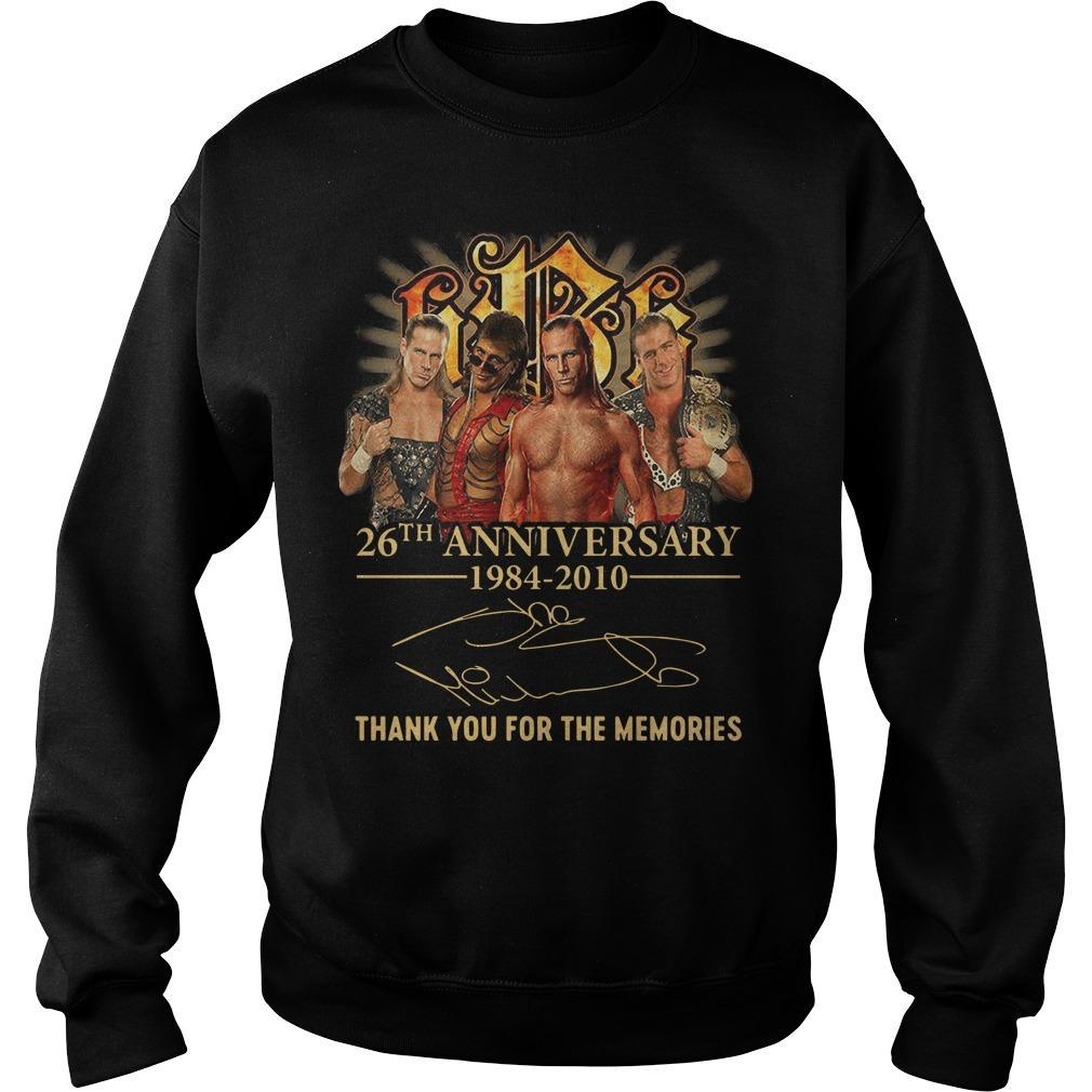 Shawn Michaels 26th Anniversary 1984 2010 Thank You For The Memories Sweater
