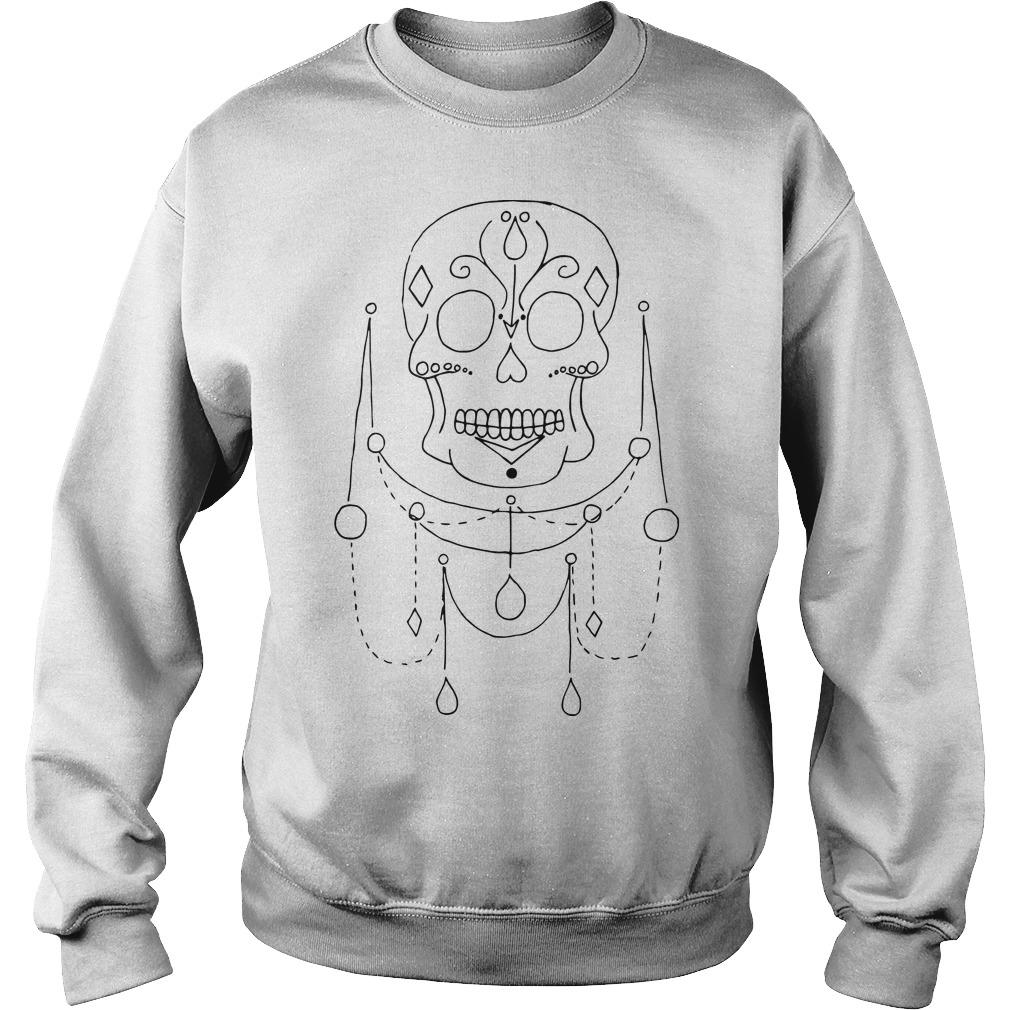Skull Jewels Day Of The Dead Sweater