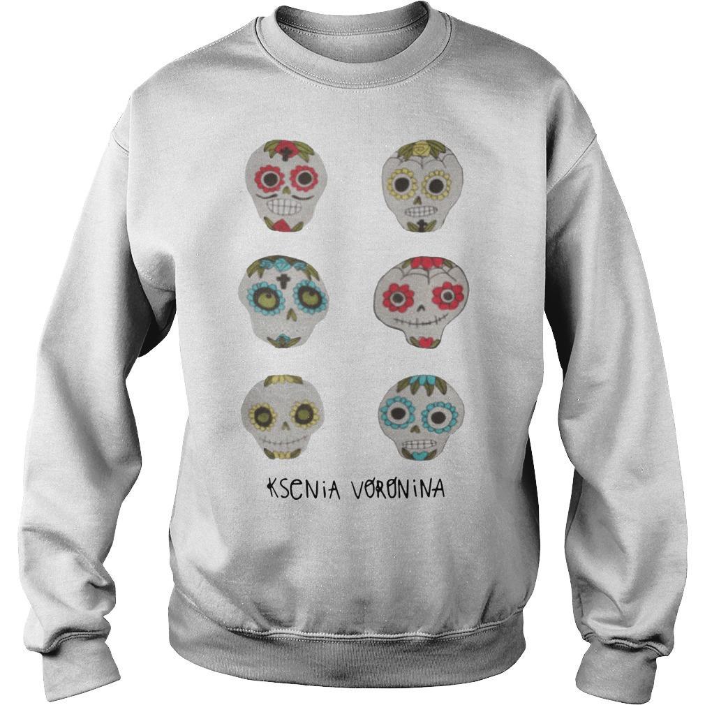Skulls Dia De Los Muertos Day Of Dead Ksenia Voronina Sweater