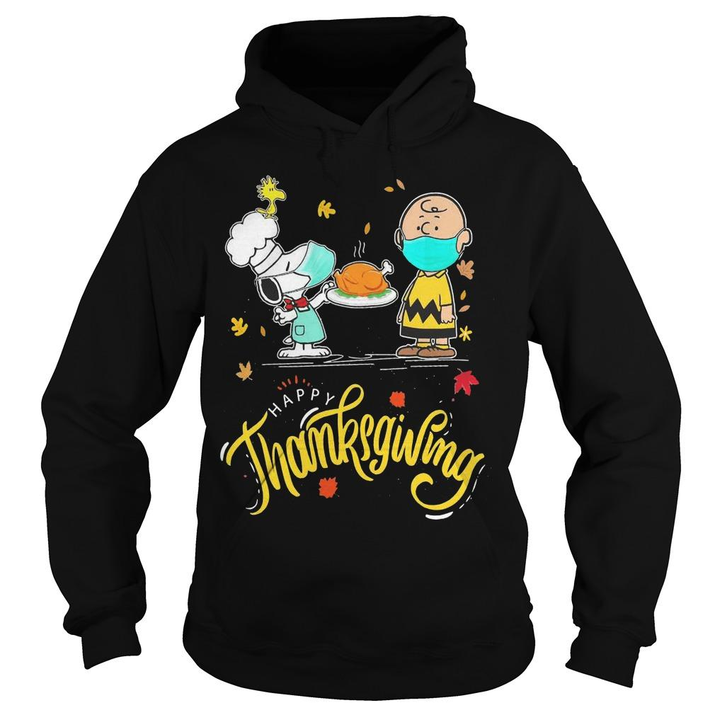 Snoopy And Charlie Brown Face Mask Happy Thanksgiving Hoodie