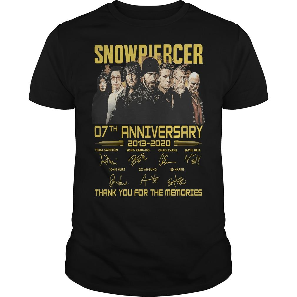 Snowpiercer 07th Anniversary 2013 2020 Thank You For The Memories Shirt
