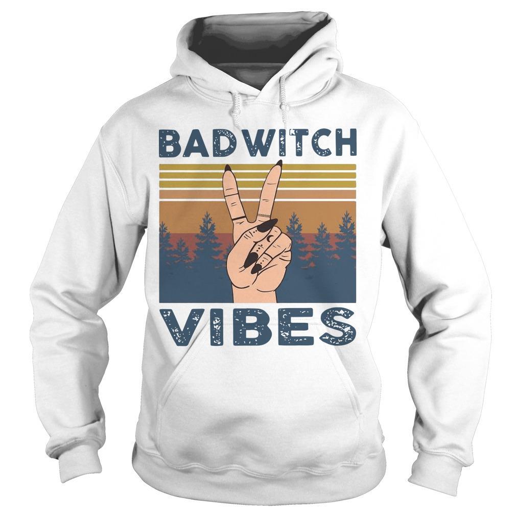 Vintage Bad Witch Vibes Hoodie