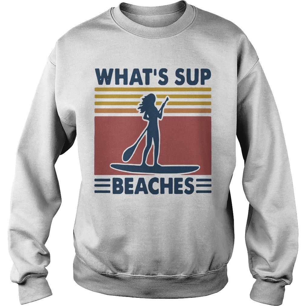 Vintage Paddle Board What's Up Beaches Sweater