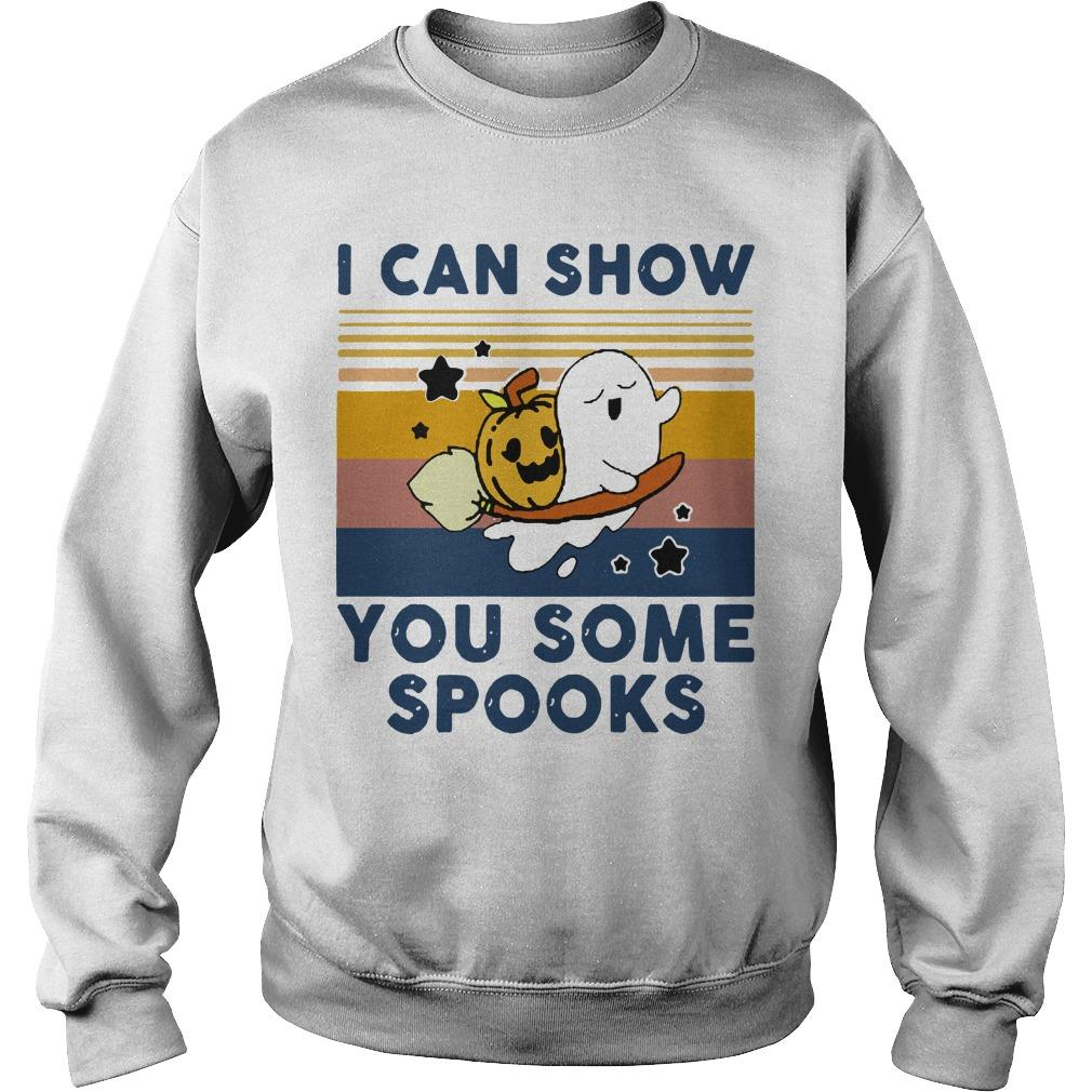 Vintage Pumpkin Ghost I Can Show You Some Spooks Sweater
