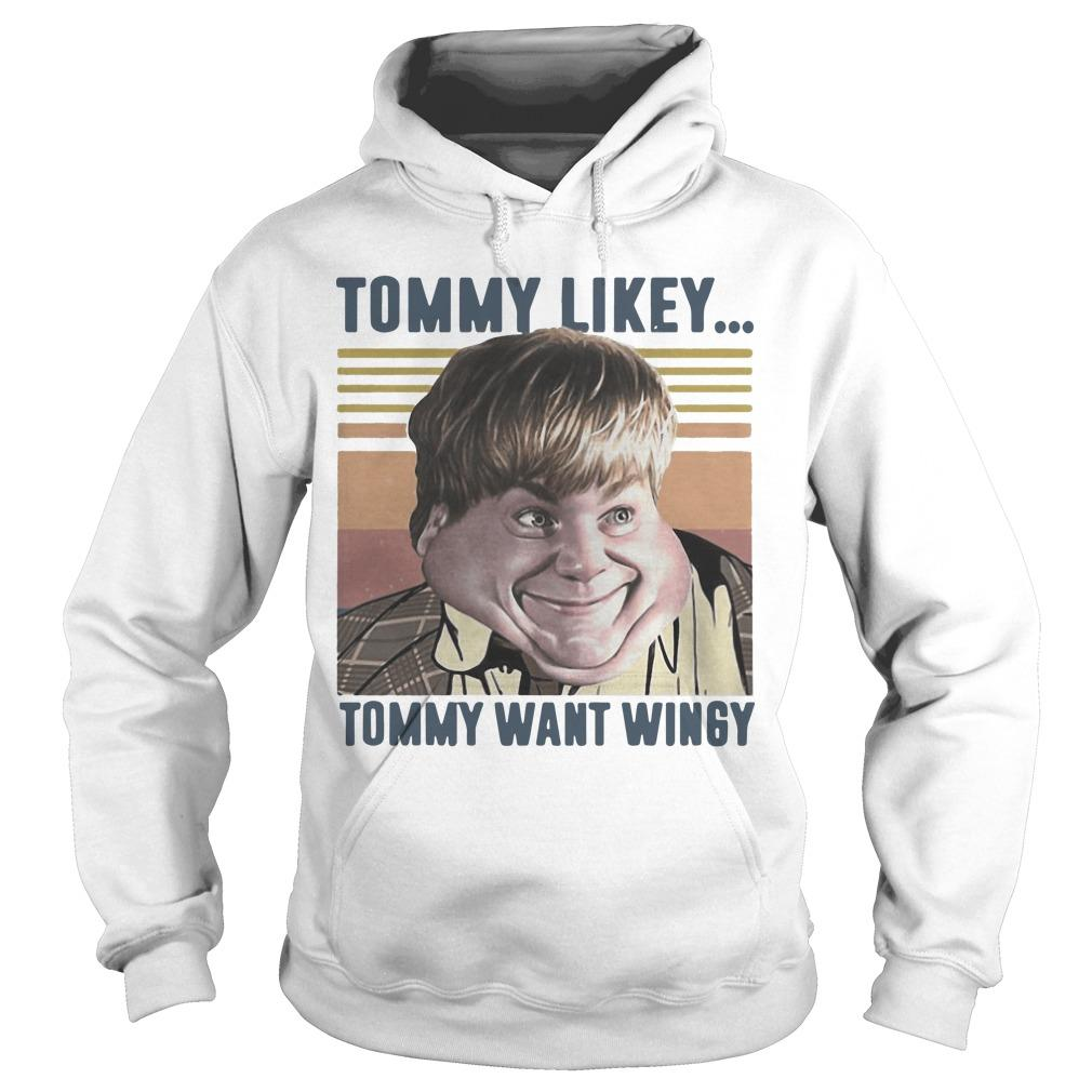 Vintage Tommy Likey Tommy Want Wingy Hoodie