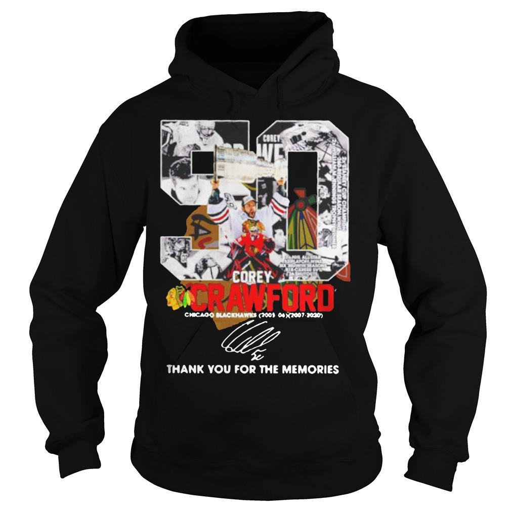 50 Corey Crawford Chicago Blackhawks Thank You For The Memories Hoodie