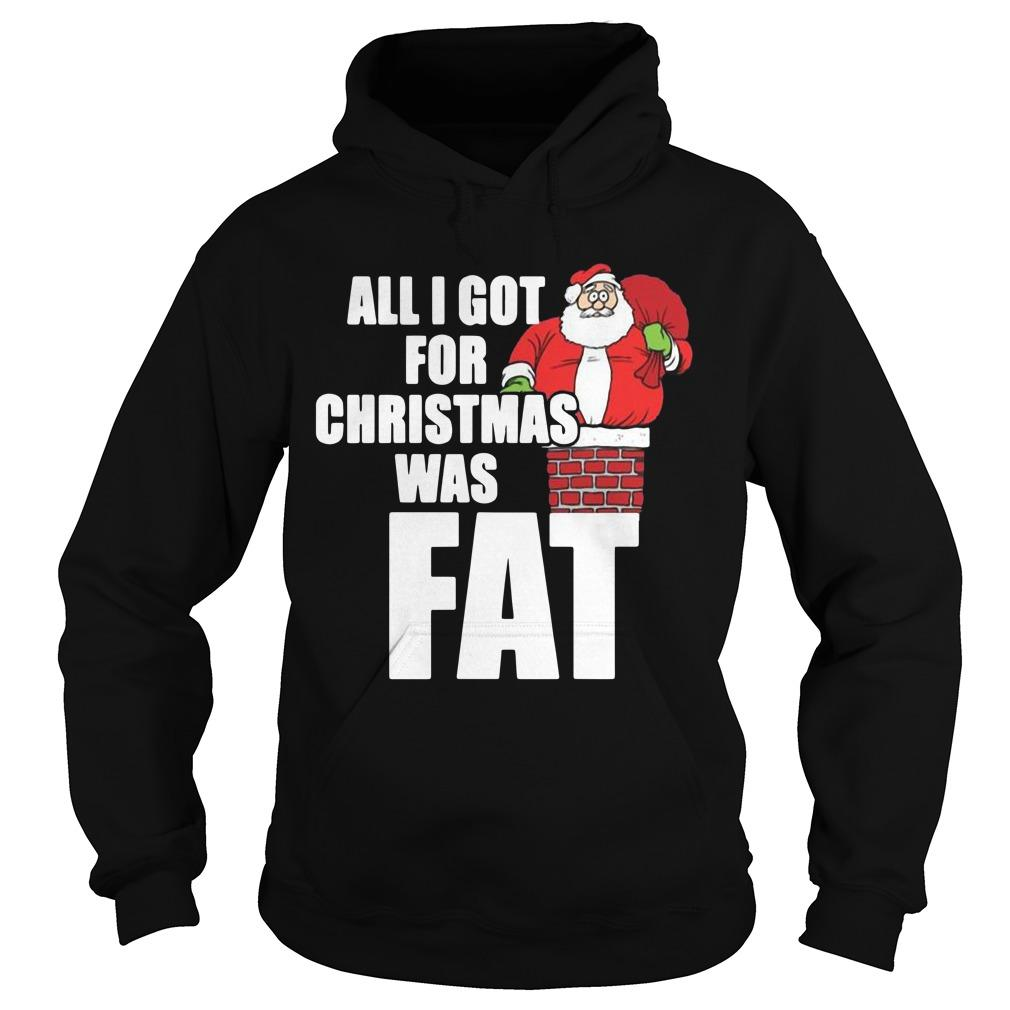 All I Got For Christmas Was Fat Hoodie