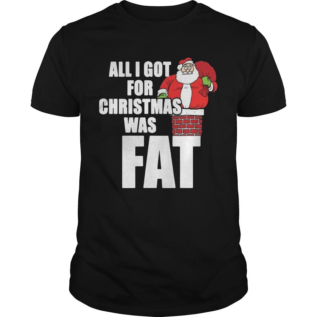 All I Got For Christmas Was Fat Shirt