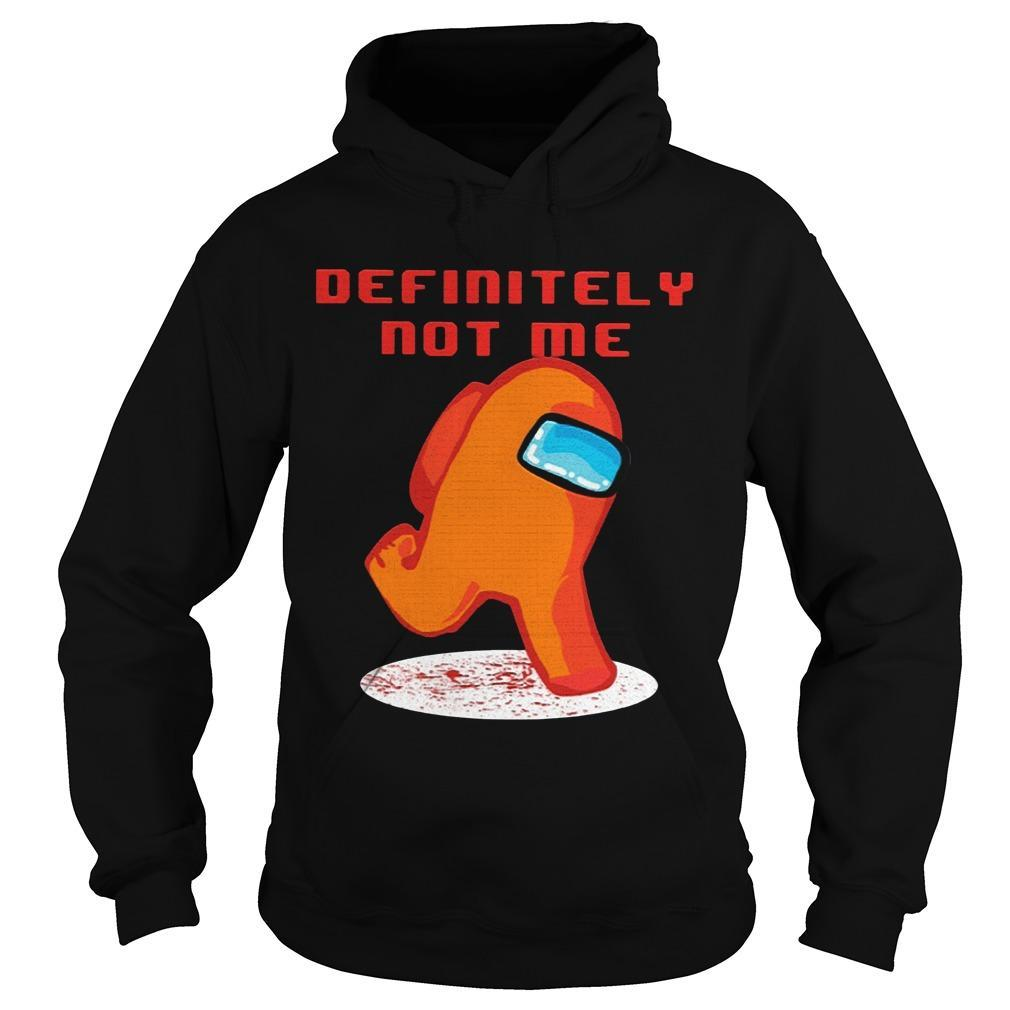 Among Us Imposter Definitely Not Me Hoodie
