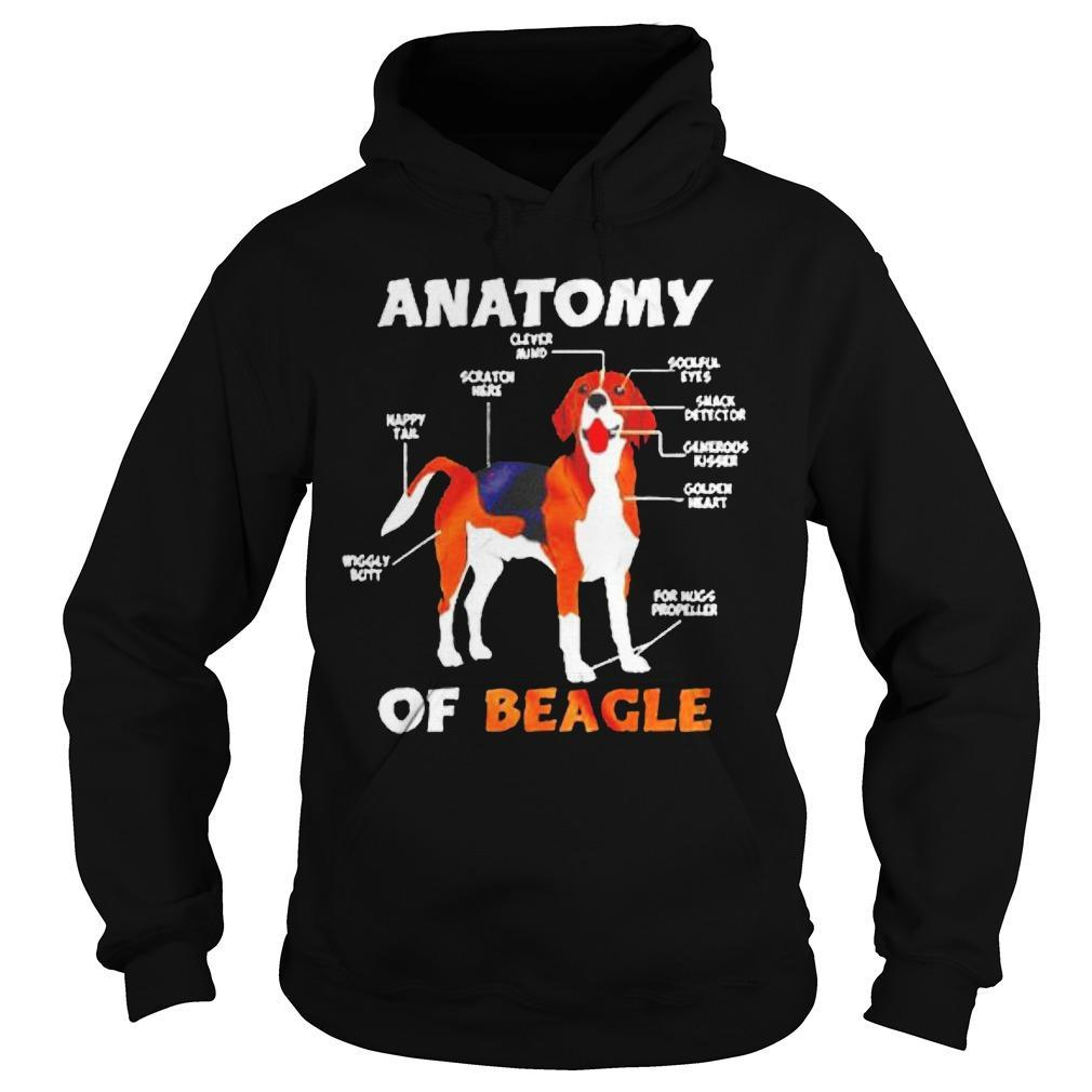 Anatomy Of Beagle Wiggly Butt Happy Tail Scratch Here Hoodie