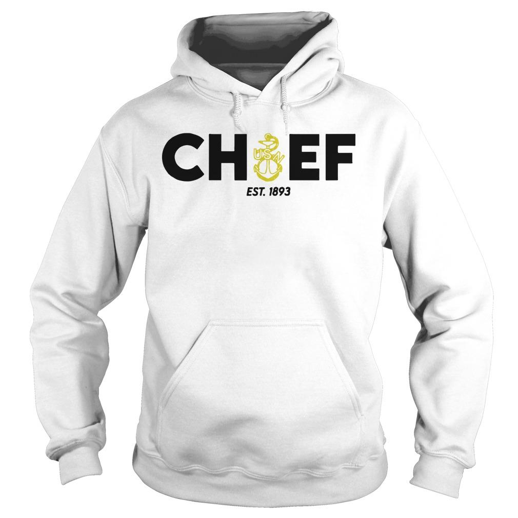 Anchor Blue And Gold Navy Chief Est 1893 Hoodie