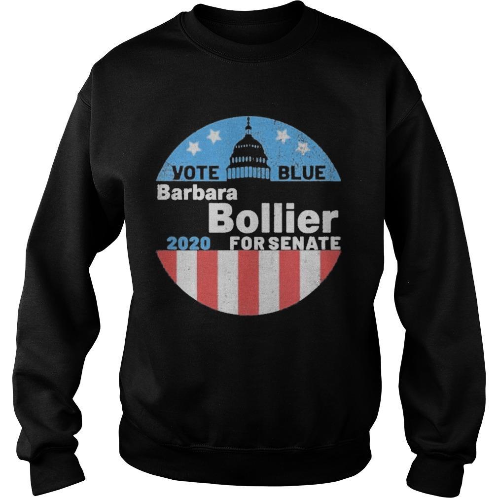Barbara Bollier For Senate 2020 Vote Blue Sweater