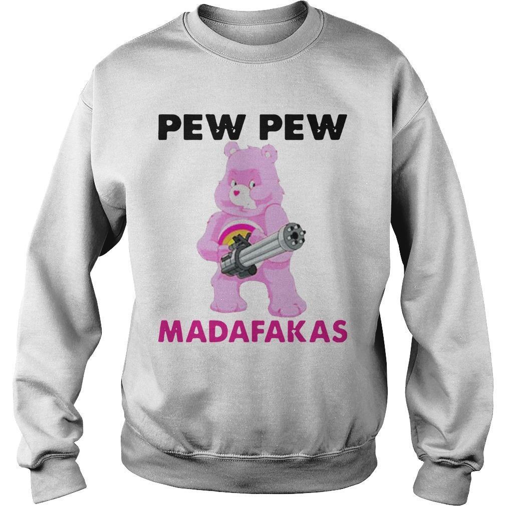 Bear Pink Pew Pew Madafakas Sweater
