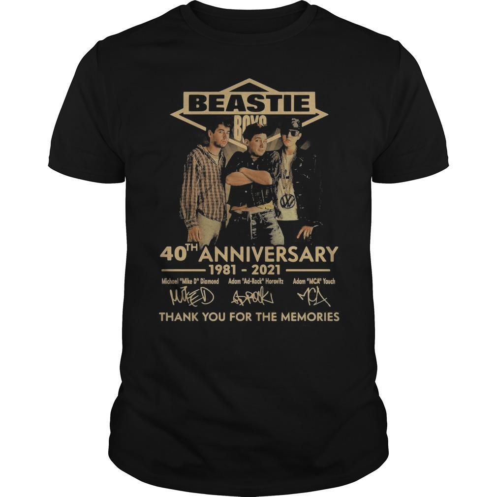 Beastie Boys 40th Anniversary Thank You For The Memories Signatures Shirt