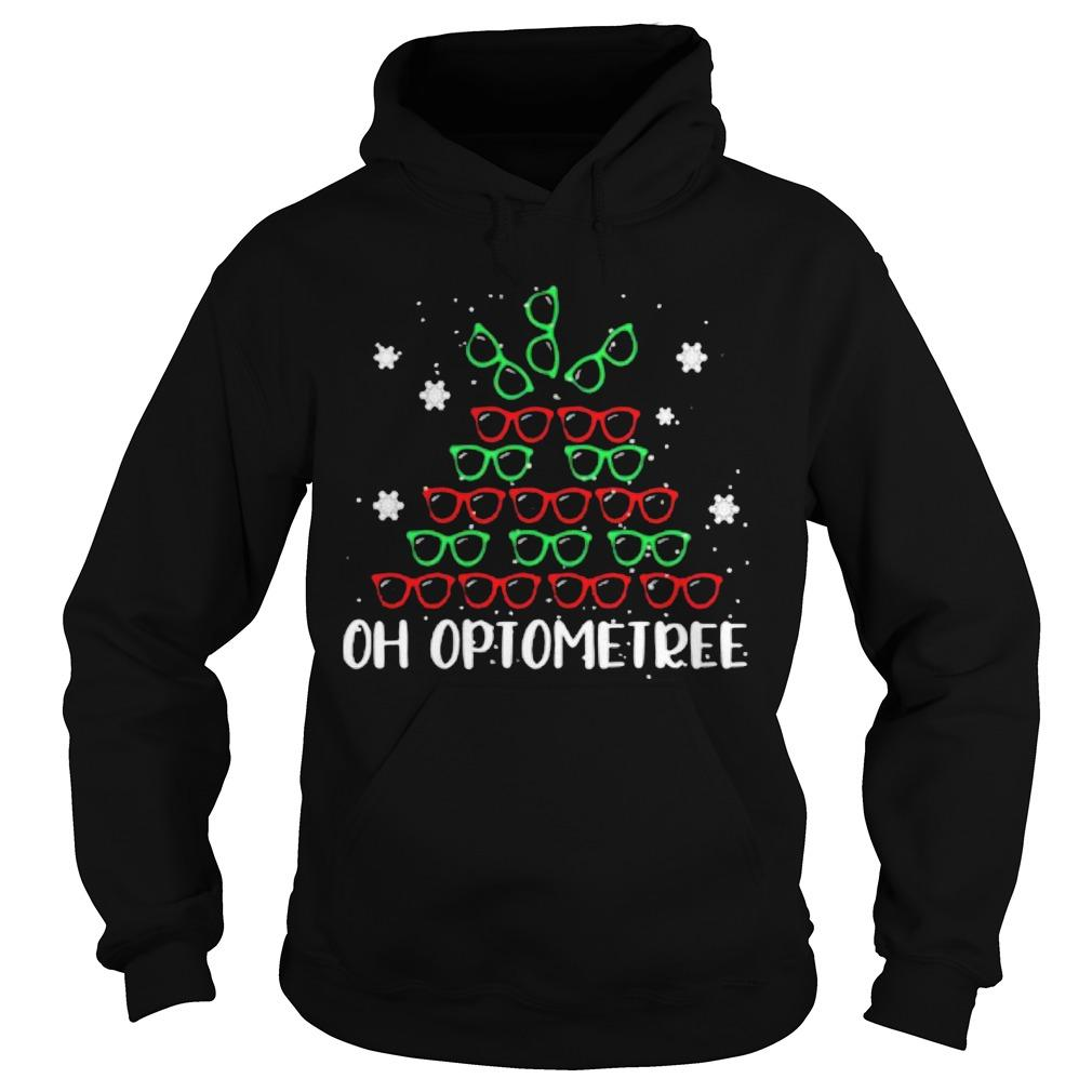 Christmas Glasses Oh Optometree Hoodie