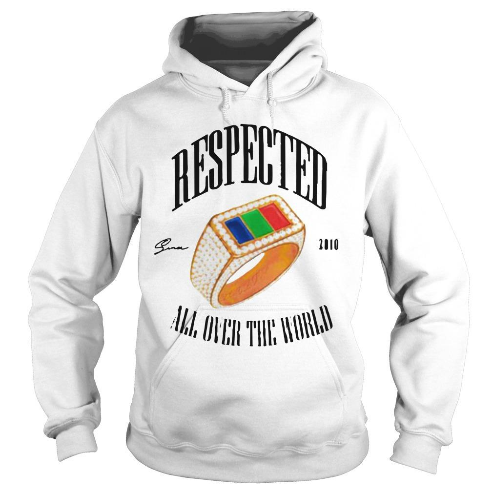 Dom Kennedy Respected 2010 All Over The World Hoodie