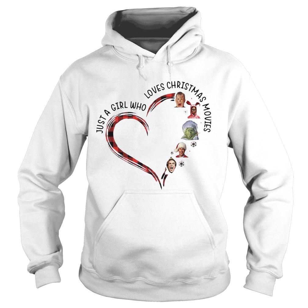 Elf Heart Just A Girl Who Loves Christmas Movies Hoodie