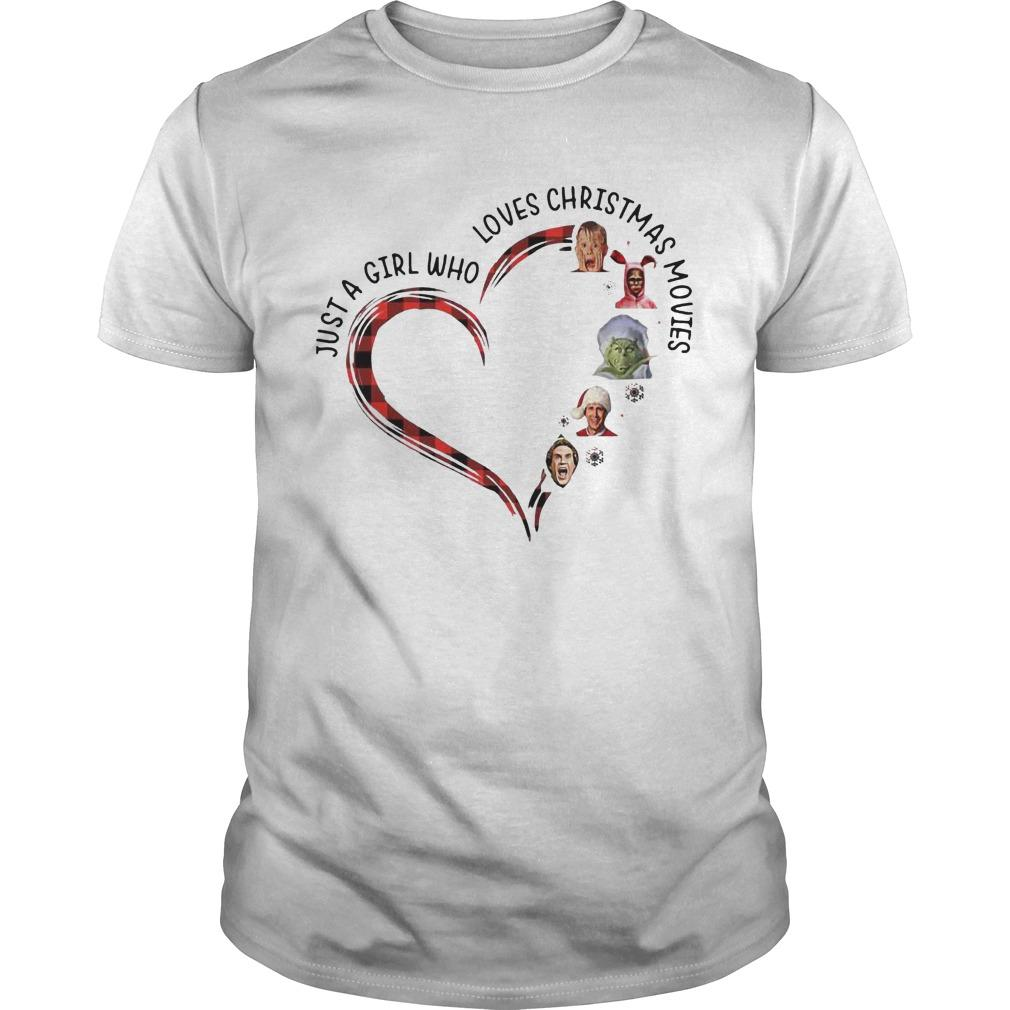 Elf Heart Just A Girl Who Loves Christmas Movies Shirt