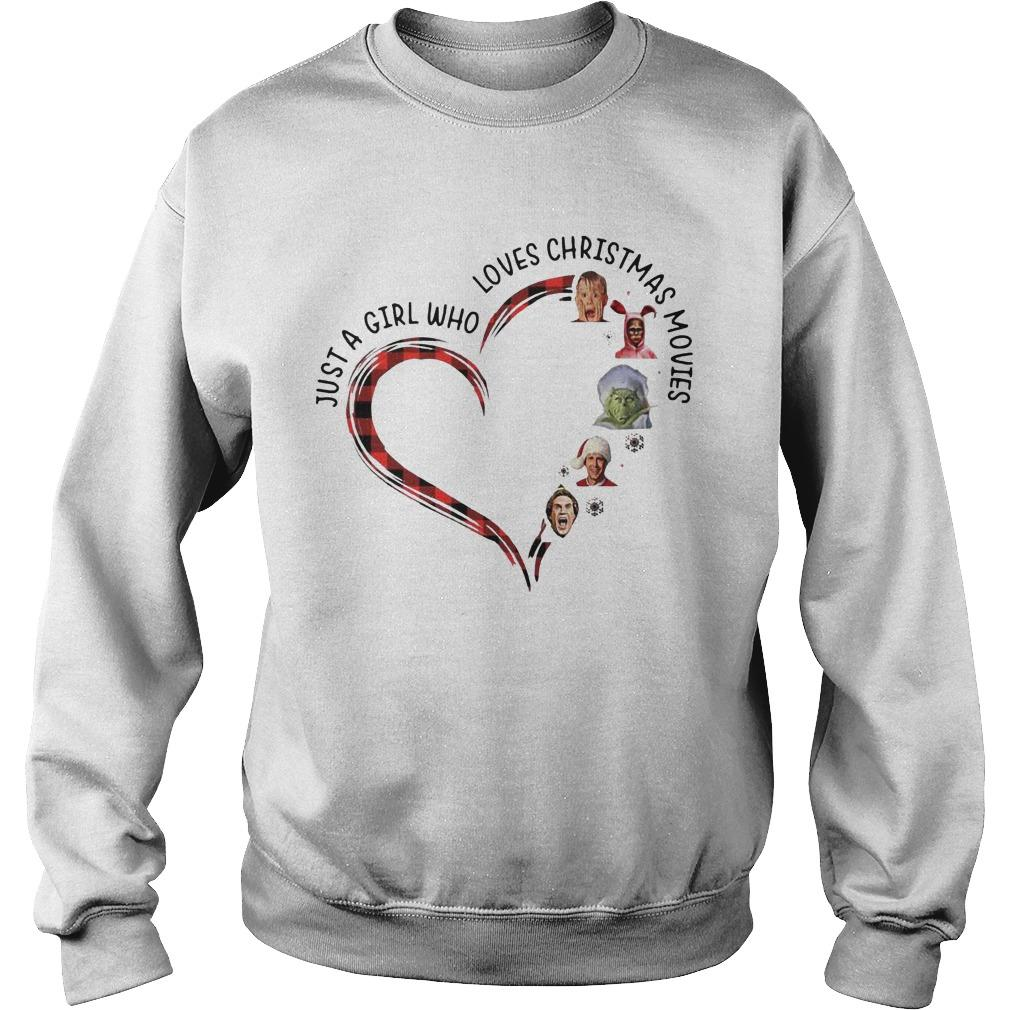 Elf Heart Just A Girl Who Loves Christmas Movies Sweater