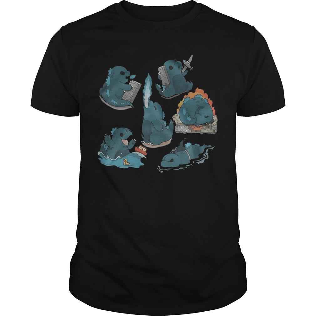 Godzilla Cute Chibi Shirt