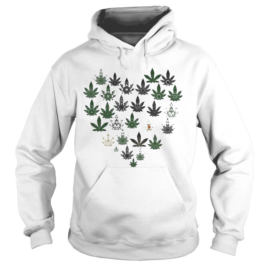 Heart Hippie Love Weed Hoodie