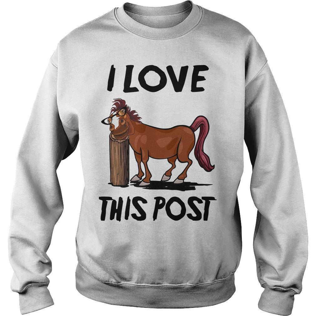 Horse I Love This Post Sweater