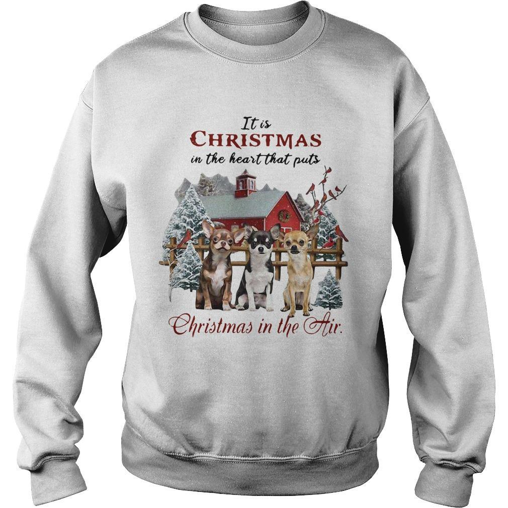 It Is Christmas In The Heart That Puts Christmas In The Air Sweater