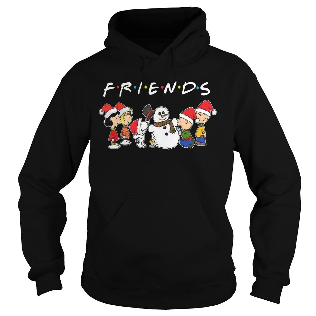 Merry Christmas The Peanuts And Snowman Friends Hoodie