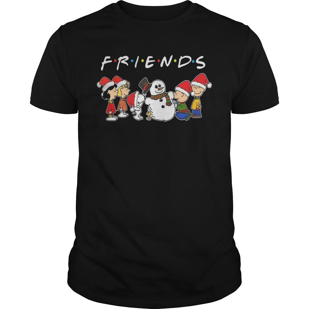 Merry Christmas The Peanuts And Snowman Friends Shirt