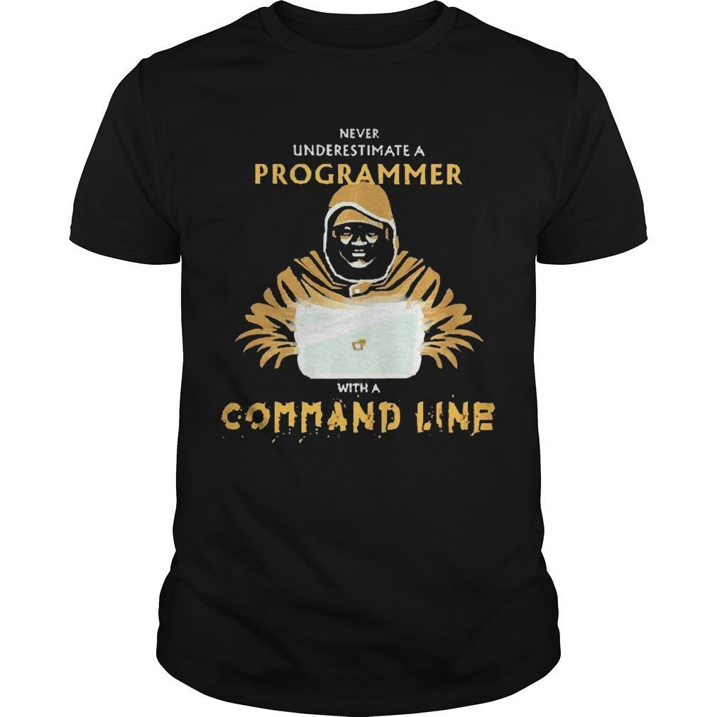Never Underestimate A Programmer With A Command Line Shirt