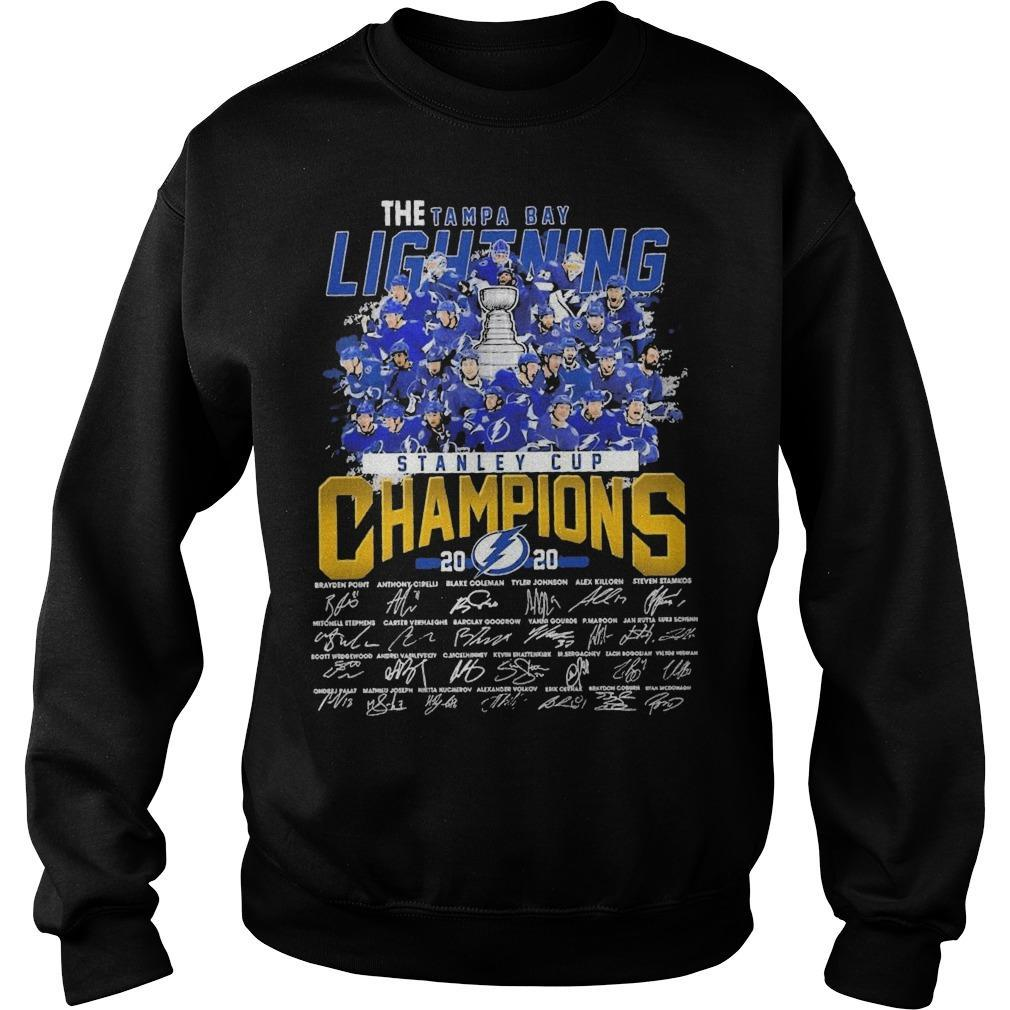 The Tampa Bay Lightning Stanley Cup Champions 2020 Signatures Sweater