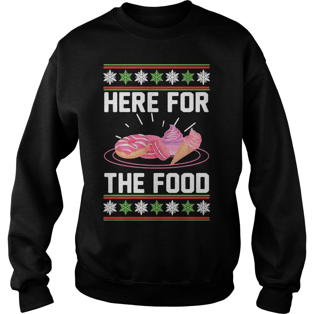 Ugly Christmas Donut Ice Cream Here For The Food Sweater