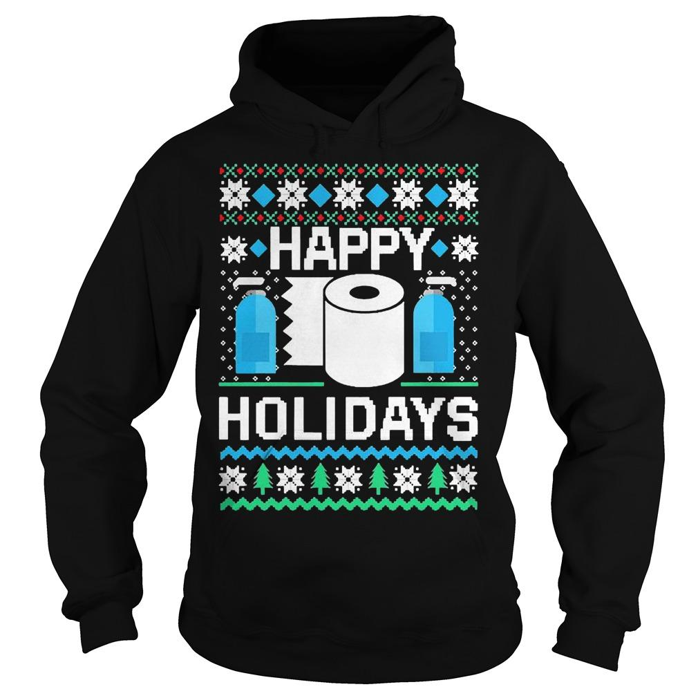 Ugly Christmas Toilet Paper Hand Sanitizer Happy Holidays Hoodie
