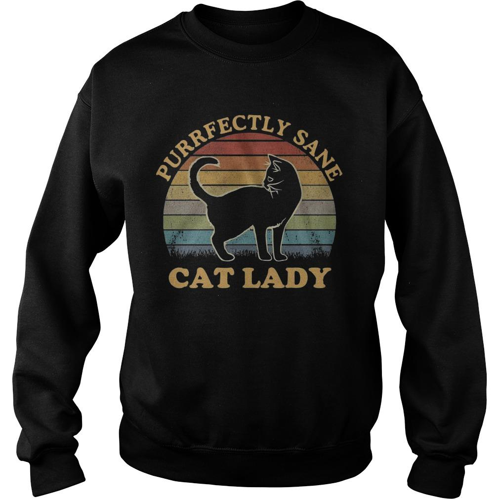 Vintage Cat Lady Purfectly Sane Sweater