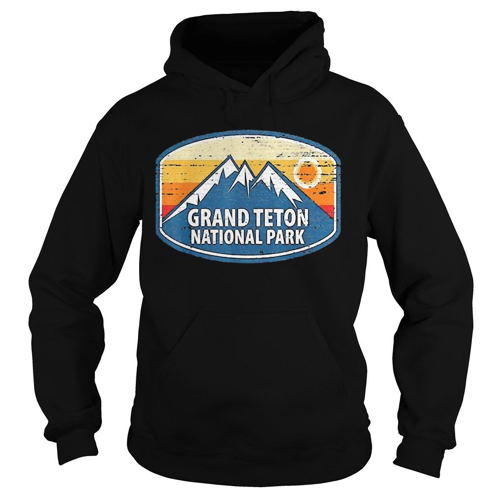 Wyoming Retro Distressed Souvenir Grand Teton National Park Hoodie