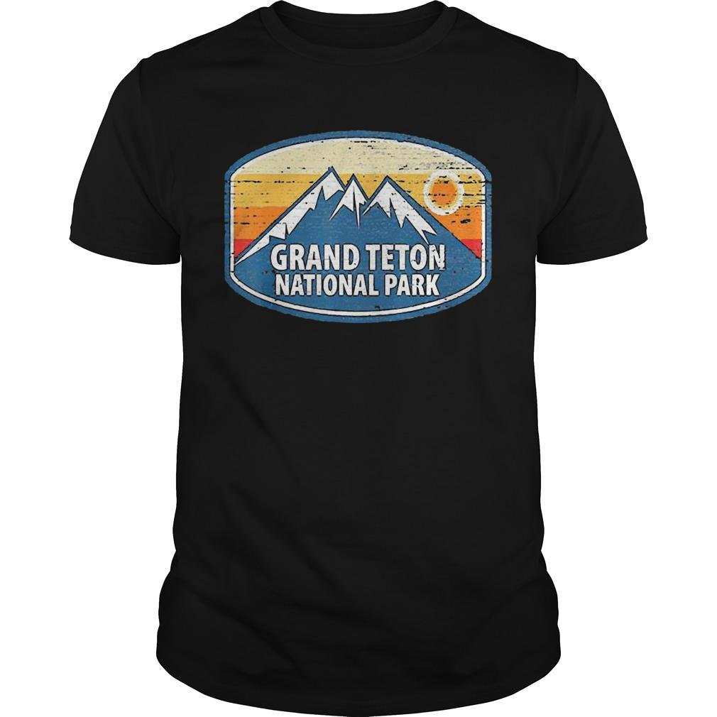 Wyoming Retro Distressed Souvenir Grand Teton National Park Shirt