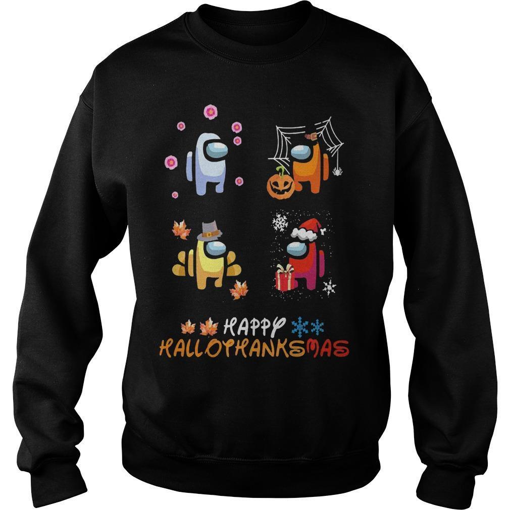 Among Us Happy Hallothanksmas Sweater