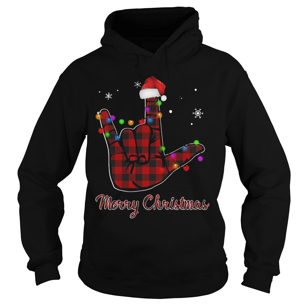Be Kind Hand Merry Christmas Hoodie