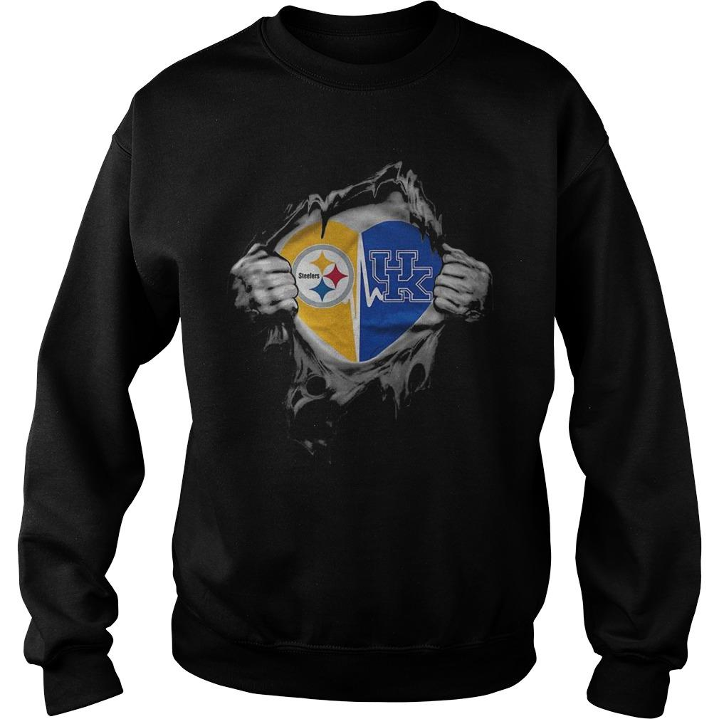 Blood Inside Me Pittsburgh Steelers And Kentucky Wildcats Sweater