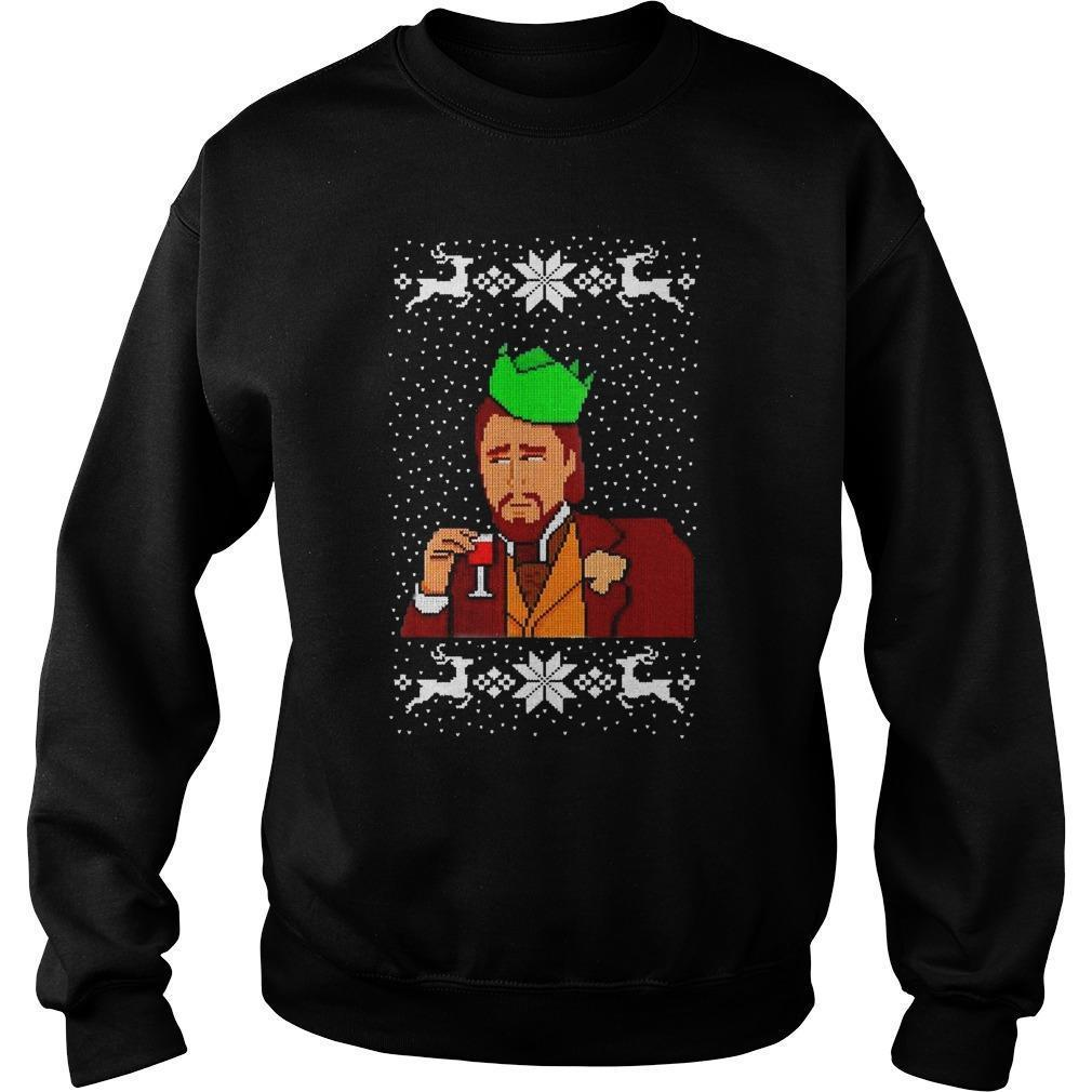 Christmas Dicaprio Drinking Sweater