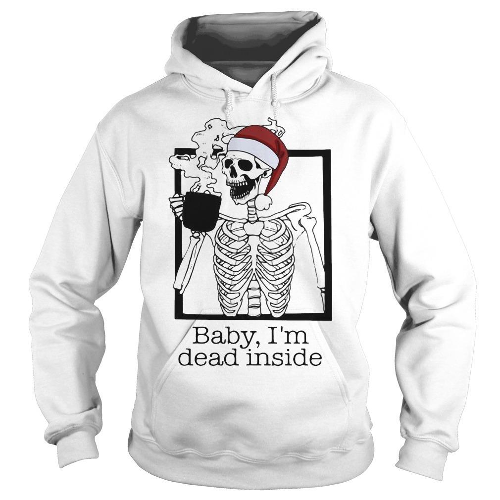 Christmas Santa Skeleton Baby I'm Dead Inside Hoodie