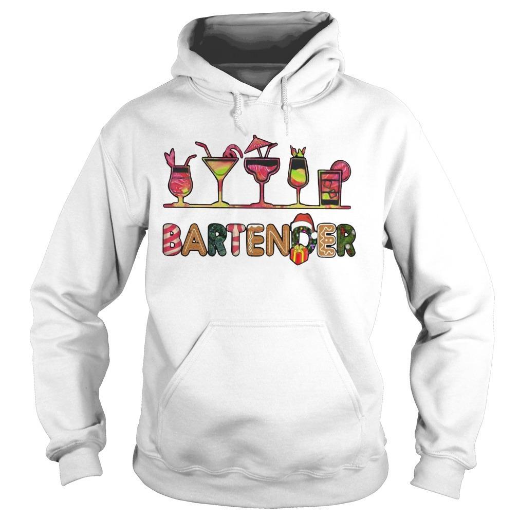 Christmas Wine Bartender Hoodie