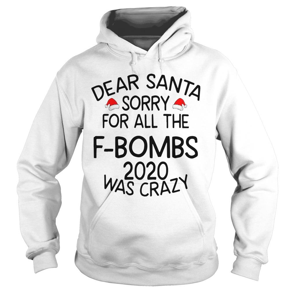Dear Santa Sorry For All The F Bombs 2020 Was Crazy Hoodie