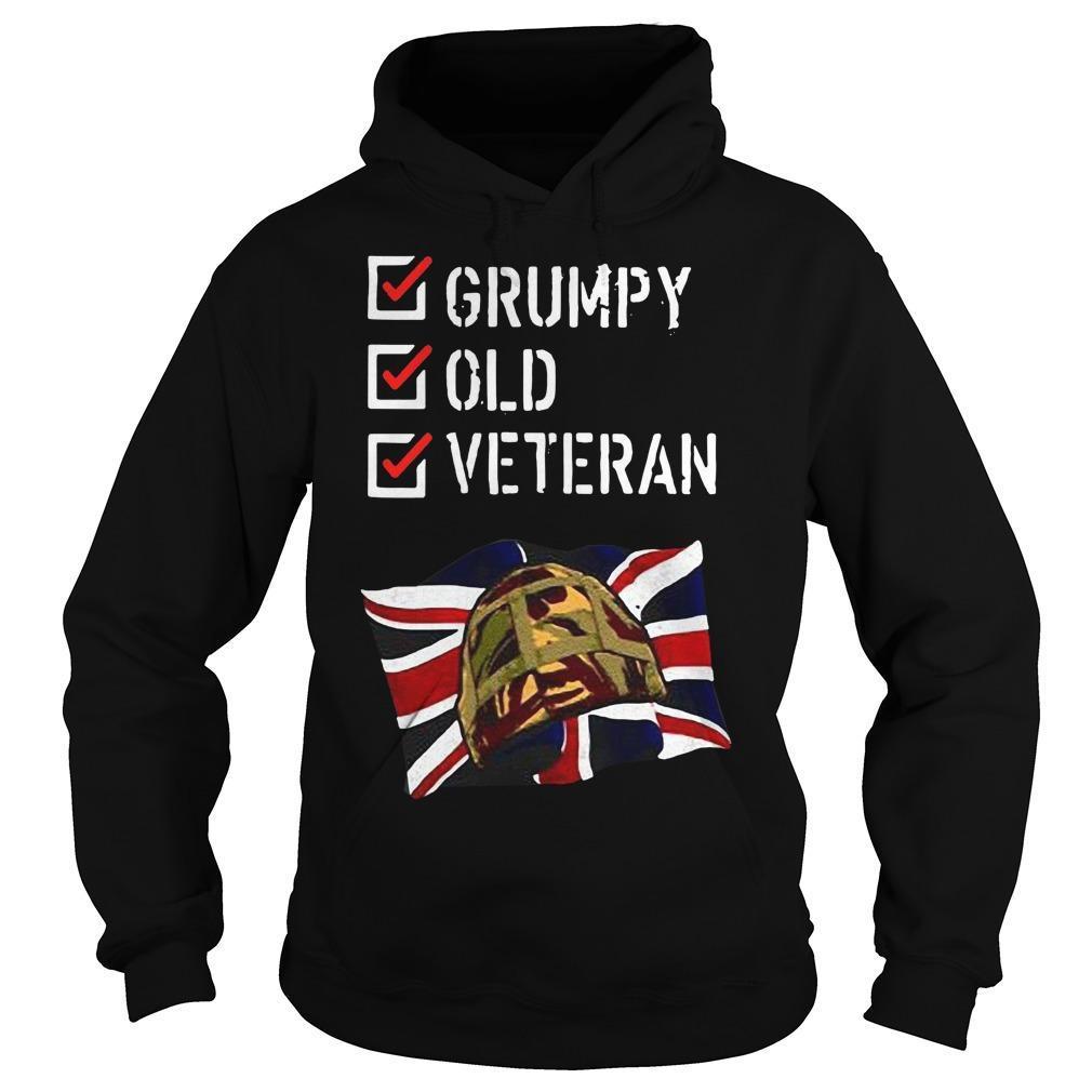 England Grumpy Old Veteran Hoodie