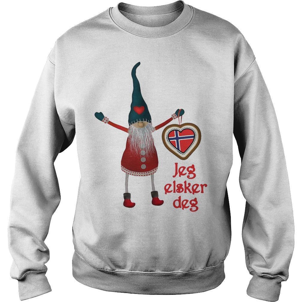 Gnomes Jeg Elsker Deg Sweater