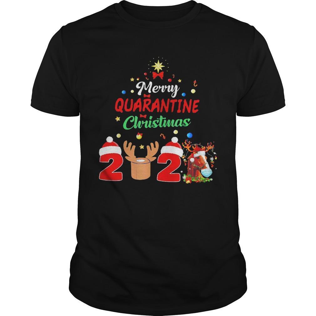 Horse Merry Quarantine Christmas 2020 Shirt